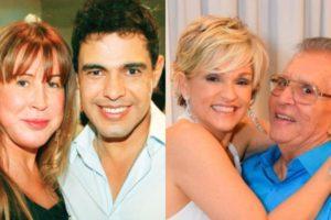 O que os ex-casais Zilu e Zezé Di Camargo e Andréa de Nóbrega e Carlos Alberto de Nóbrega possuem em comum? (Foto: Reprodução/Montagem TV Foco)