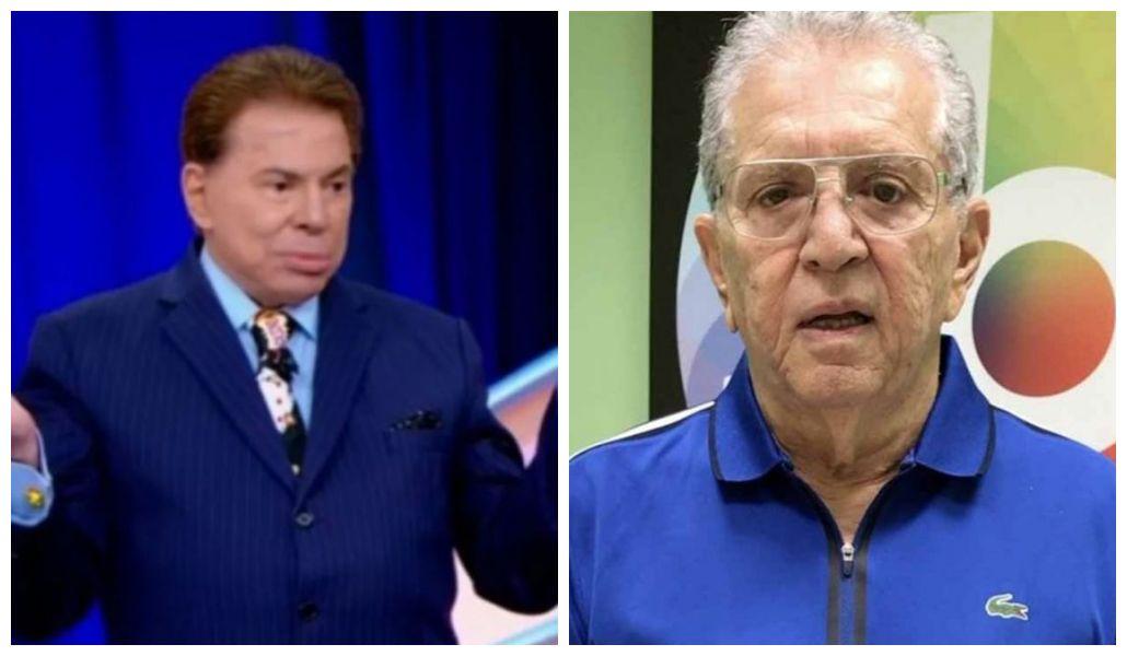 Carlos Alberto de Nóbrega e Silvio Santos (Foto: Reprodução)