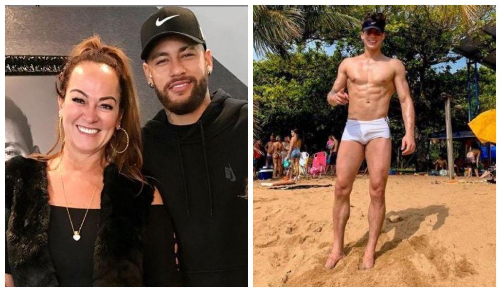 Mãe de Neymar namora novinhos (Foto: Reprodução)