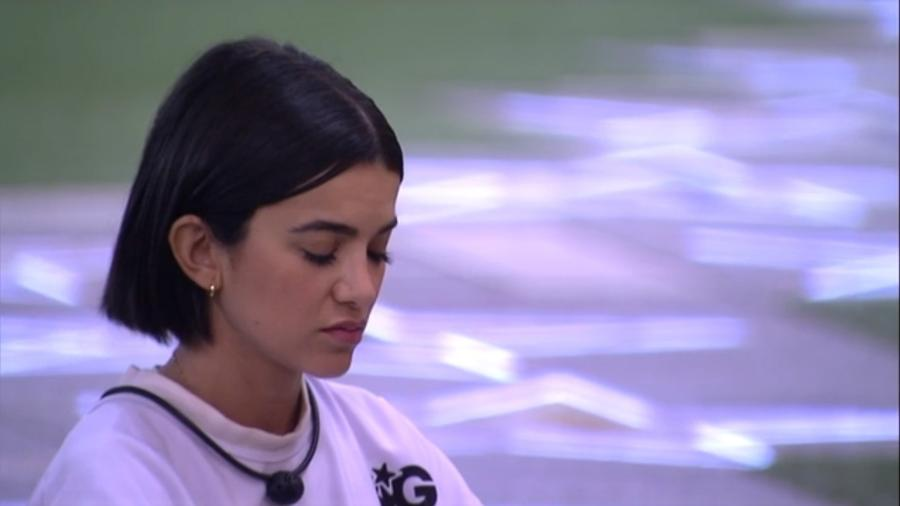A famosa cantora do realty show da Globo, Manu falou sobre o seu desempenho na prova do líder (Foto: Reprodução)