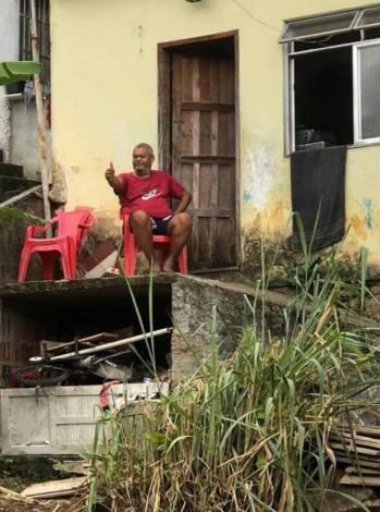 Casa do pai de Babu Santana (Foto: Reprodução)