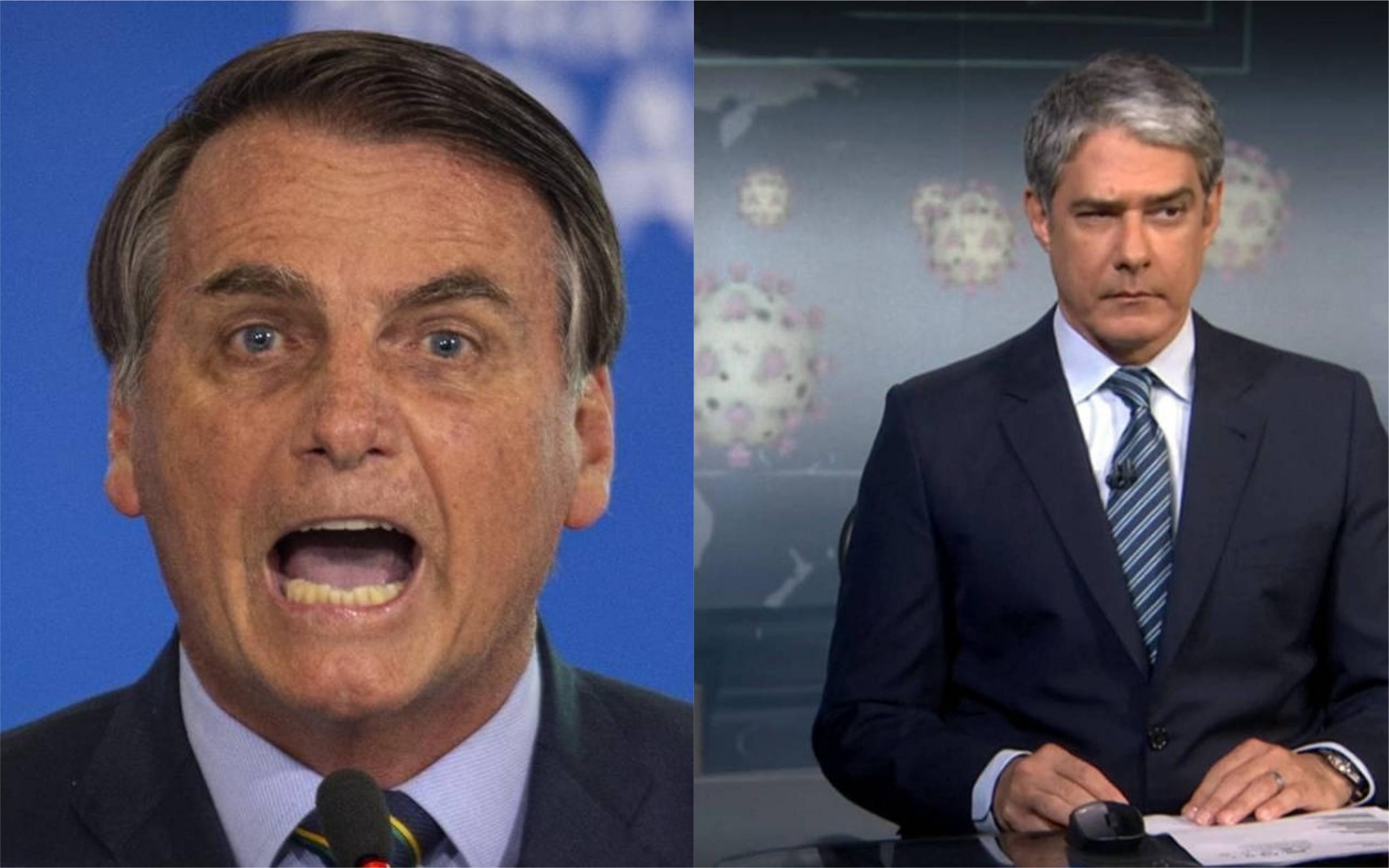 Bolsonaro ficou fora de controle e detonou a Globo (Foto: Divulgação)