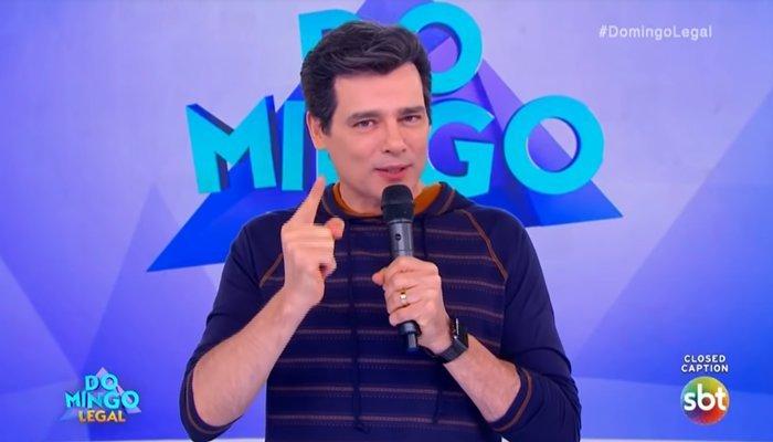 O apresentador do Domingo Legal, Celso Portiolli - Foto: Reprodução