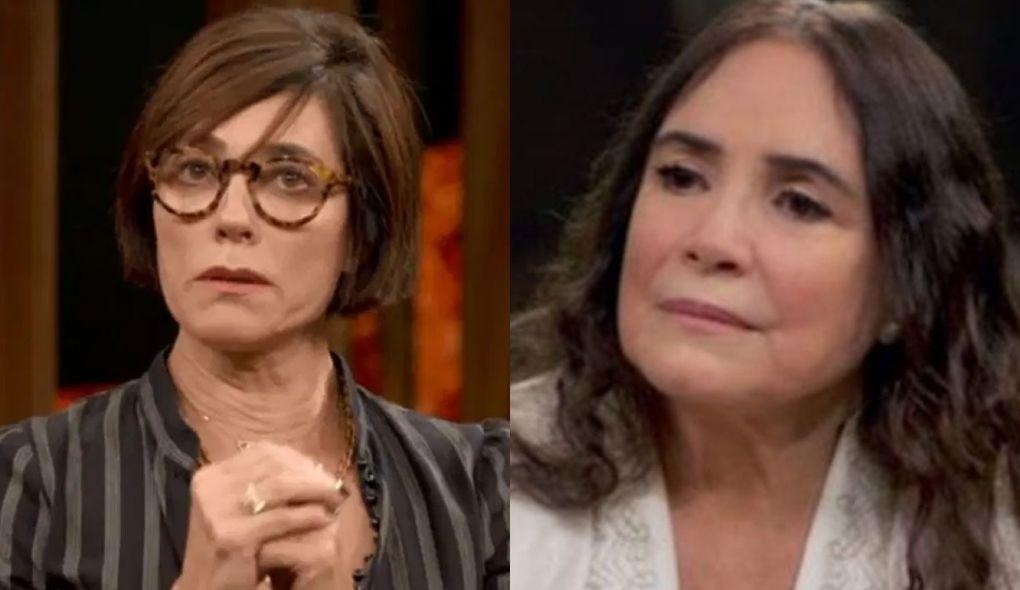 Christiane Torloni afrontou Regina Duarte durante live (Foto: Montagem/TV Foco)