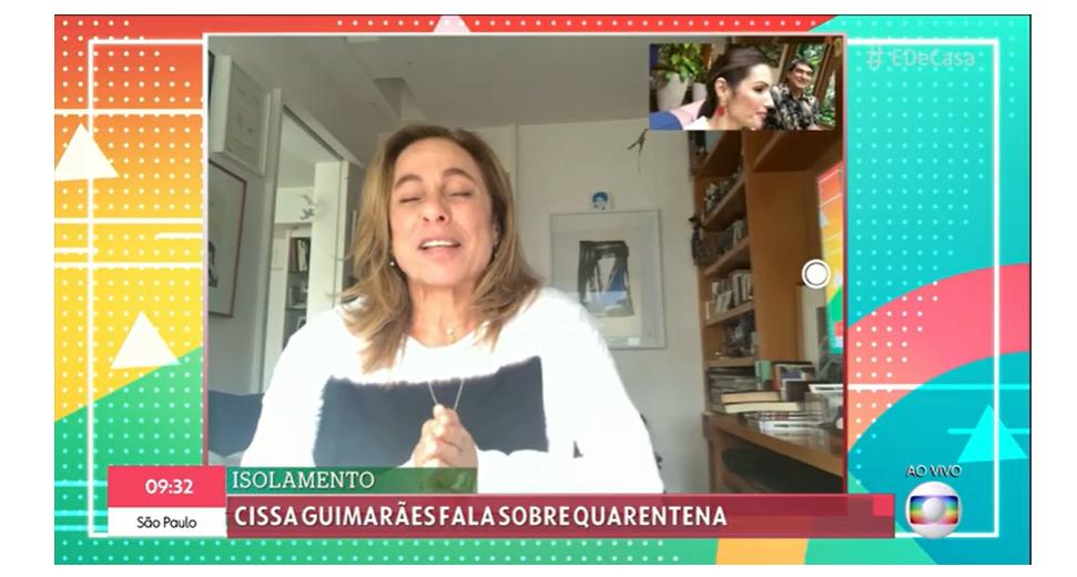Cissa Guimarães revela caos em casa durante isolamento social (Foto: Reprodução/Gshow)
