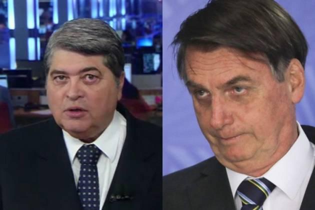 Datena criticou atitude de Bolsonaro (Foto: Montagem)