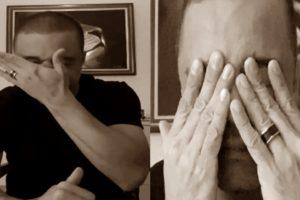 Davi Passamani chorou em vídeo (Foto: Reprodução)