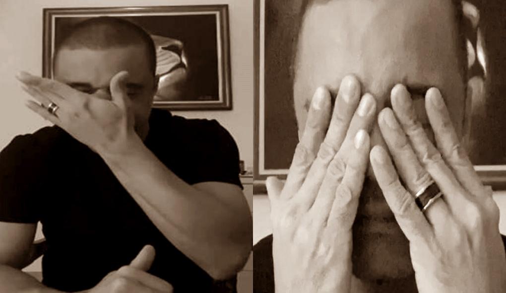 Igreja: Davi Passamani chorou em vídeo (Foto: Reprodução)