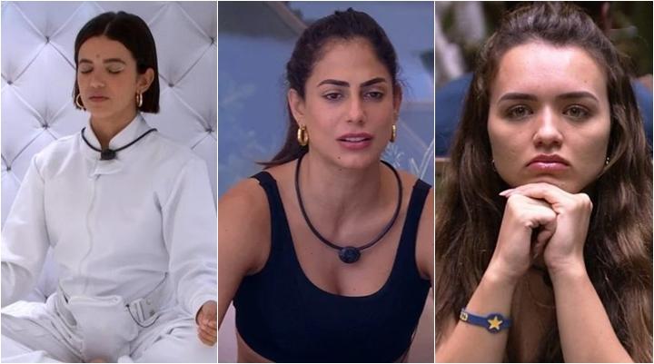 Manu, Mari e Rafa estão entre as participantes que evitam confrontos no BBB20. (Foto: Montagem/Reprodução)