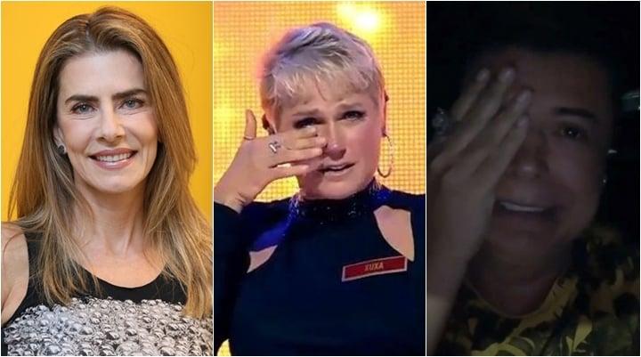 Maitê Proença, Xuxa e David Brazil estão entre os artistas vetados pela Globo. (Foto: Montagem/Reprodução)