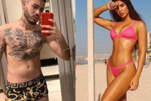 Kevinho e Gabriela Versani arrancam suspiros em publicação sensual (Montagem: TV Foco)