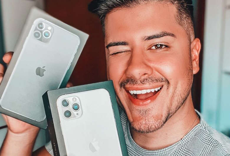 Influencer Luis Guilherme Barros ostenta produtos da Apple em sua rede social (Foto: Reprodução)
