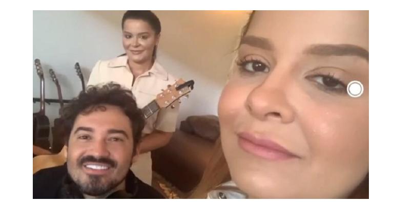 """Dupla Maiara e Maraísa contam sobre rotina em live no """"É de Casa"""" (Foto: Reprodução/TV Globo)"""
