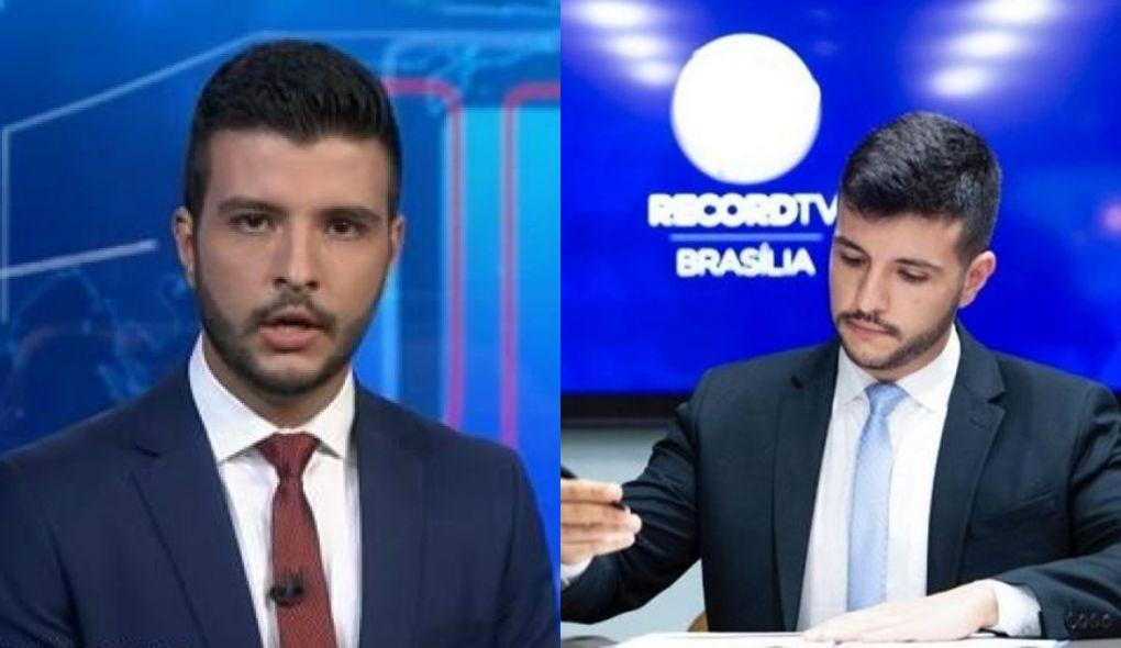 jornal nacional Contratação de Matheus Ribeiro não foi aceita pelos jornalistas da Record (Foto: Montagem/TV Foco)