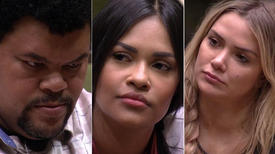 Babu, Flayslane e Marcela estão no Paredão do BBB20 (Foto: Montagem)