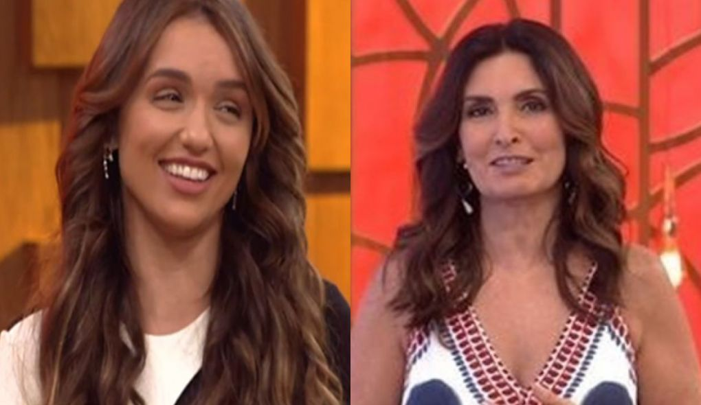 Rafa Kalimann deixou Fátima Bernardes constrangida durante participação no Encontro (Foto: Reprodução)