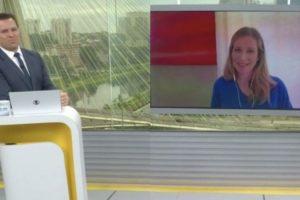 Rodrigo Bocardi chamou a atenção de repórter ao vivo na TV (Foto: Reprodução)