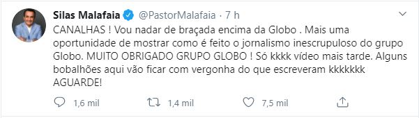 Silas Malafaia ataca Globo (Foto: Reprodução)