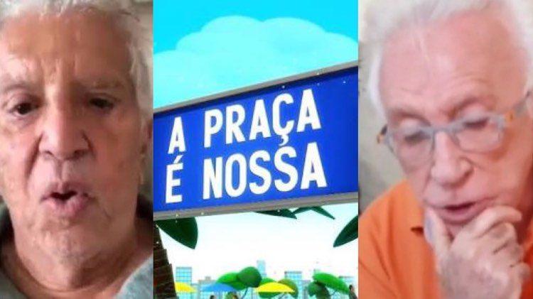 Carlos Alberto de Nóbrega se preocupa com funcionários da Praça É Nossa. Moacyr Franco teve um desligamento triste em 2017 (Montagem: TV Foco)