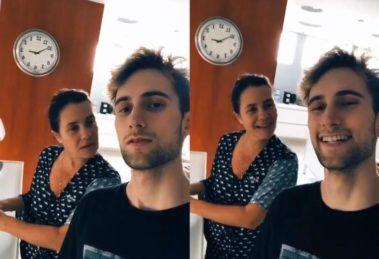 Felipe Ricca com a mãe, Adriana Esteves - Foto: Reprodução