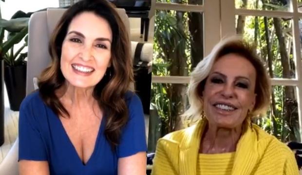 Ana Maria Braga e Fátima Bernardes em live (Foto: Reprodução)