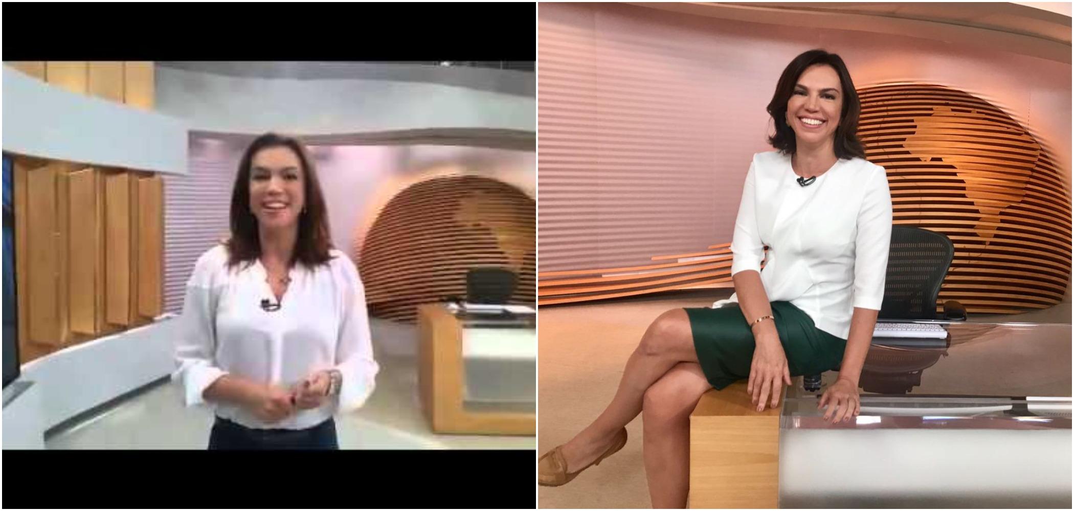 Ana Paula Araújo comanda o Bom Dia Brasil na Globo (Reprodução)