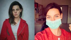 Atriz de La Casa de Papel retoma carreira de enfermeira para ajudar vítimas do coronavírus (Foto: Reprodução)