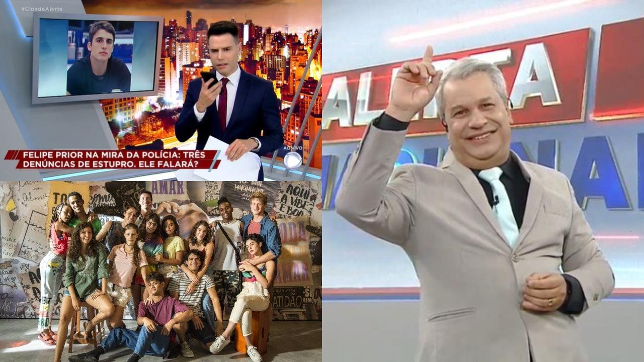 Cidade Alerta, Alerta Nacional e Malhação: Toda Forma de Amar foram destaques de audiência (Foto: Reprodução/TV Globo/Record/RedeTV!)