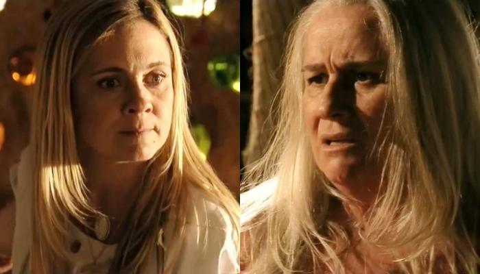 Carminha (Adriana Esteves) e Lucinda (Vera Holtz) têm segredo em Avenida Brasil (Foto: Reprodução/Globo/Montagem TV Foco)