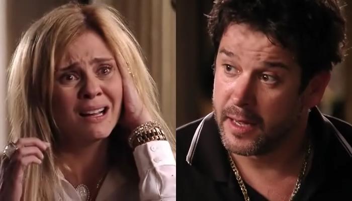 Adriana Esteves (Carminha) e Murilo Benício (Tufão) em Avenida Brasil, que bateu novo recorde de audiência (Foto: Reprodução/Globo)