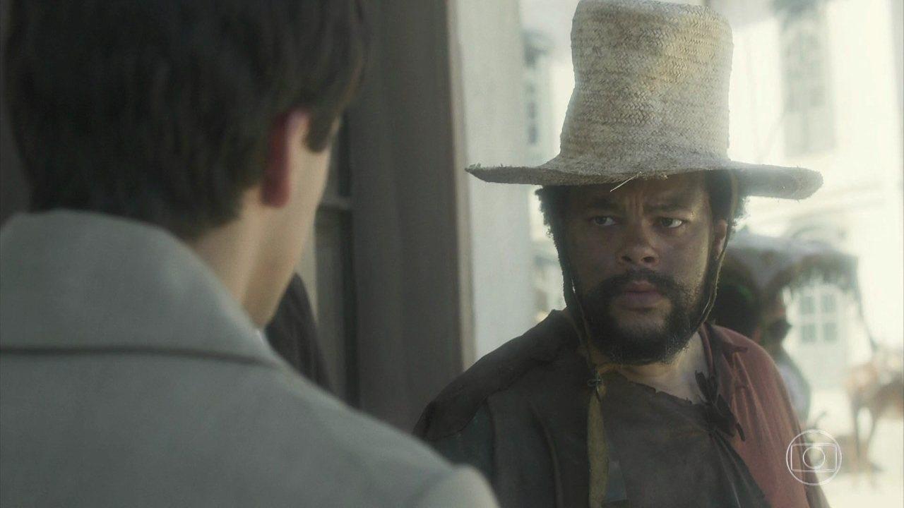 Babu em cena de Novo Mundo; brother terá papel em Salve-se Quem Puder (Foto: Reprodução/Globo)