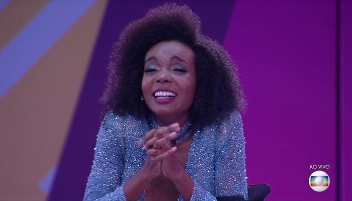 A campeã Thelma Assis na final do BBB20, que teve maior audiência em dez anos (Foto: Reprodução/Globo)
