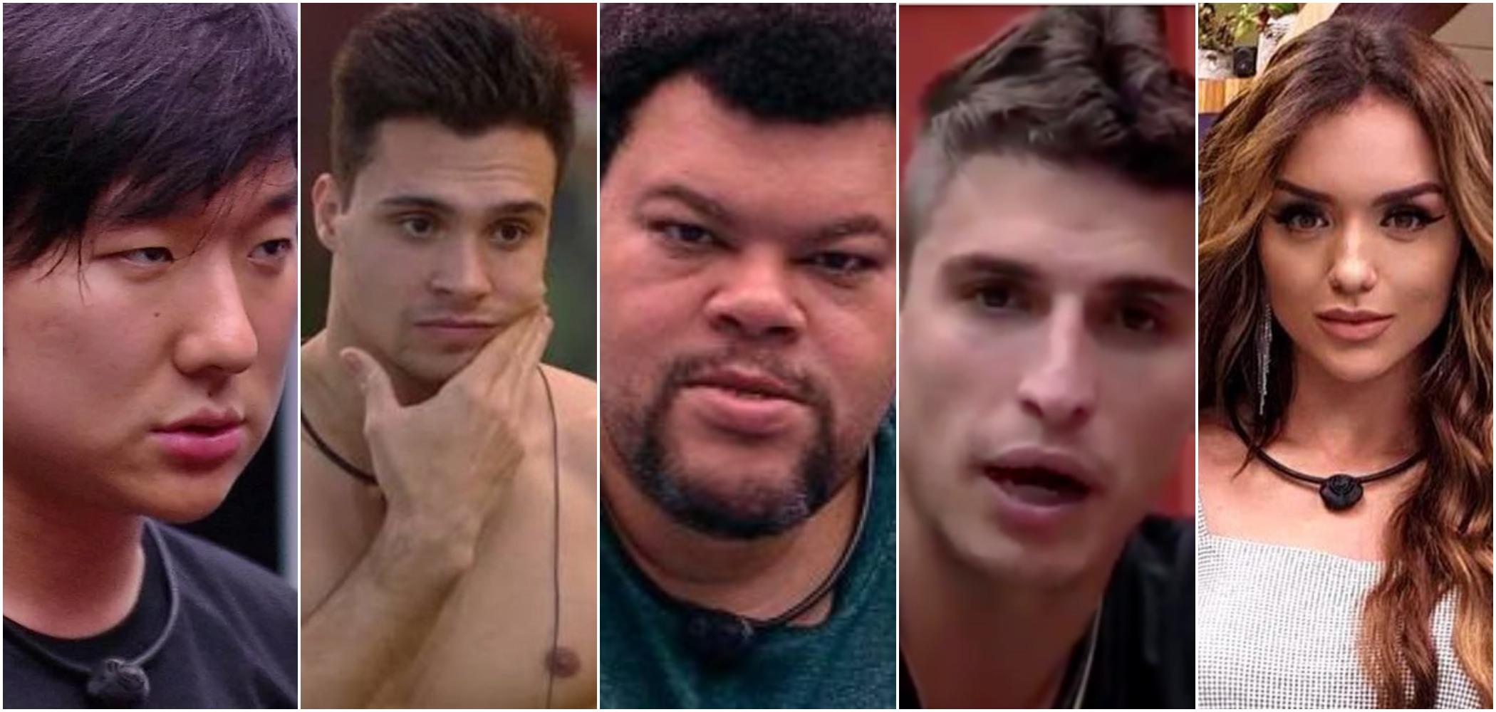 Babu, Rafa, Prior, Petrix e Pyong foram escolhidos pela Globo para o BBB20 (Reprodução)