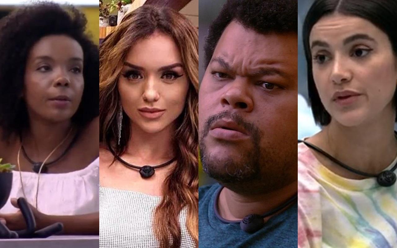 Thelma, Rafa, Babu e Manu são os maiores favoritos ao prêmio do BBB20 (Foto: reprodução/Globoplay)