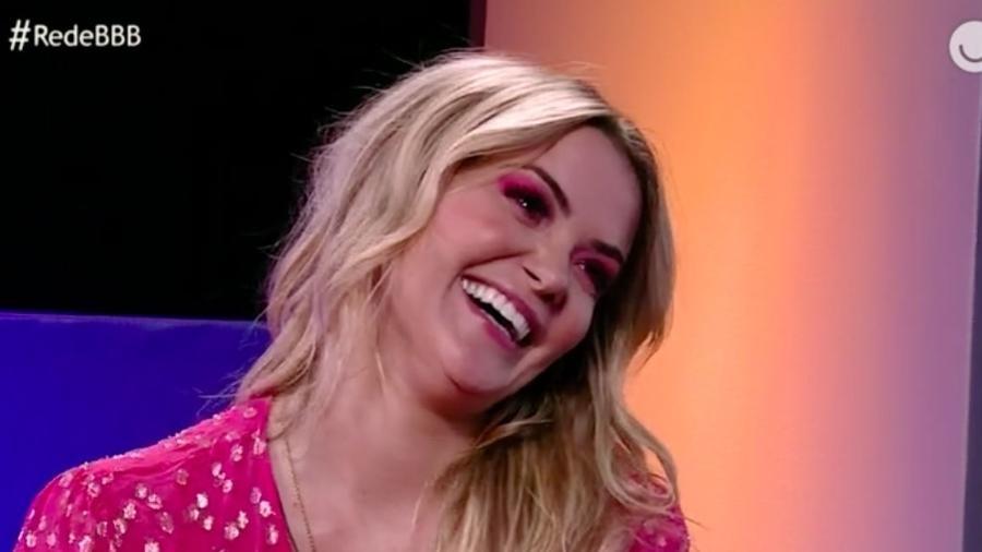 BBB20: Marcela em entrevista após o programa (Foto: reprodução/Globoplay)
