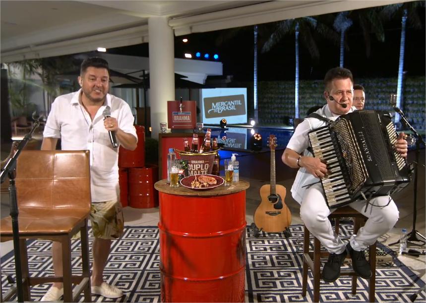 Bruno e Marrone fazem live e cutucam Gusttavo Lima (Foto: Reprodução)