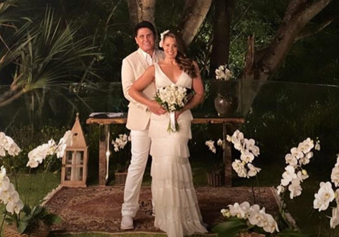 César Filho casou novamente com a esposa, Elaine - Foto: Reprodução/Instagram