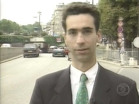 O jornalista como correspondente internacional (Foto: reprodução/Globo)