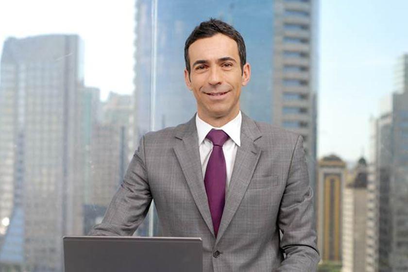 O apresentador no 'SPTV' (Foto: reprodução/Globo)