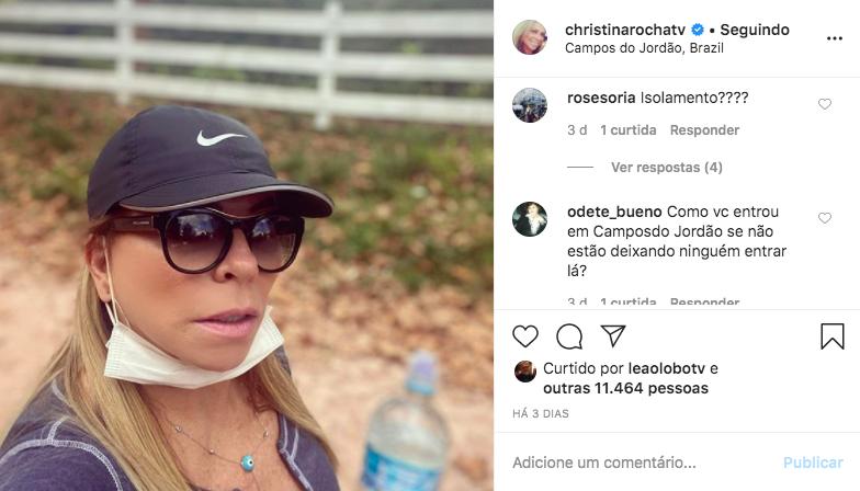 Christina Rocha quebra isolamento social e seguidores reprovam (Foto: Reprodução)
