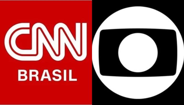 CNN Brasil foi desmentida por jornalista da Globo por causa de notícia (Foto: Reprodução/CNN Brasil/Globo/Montagem TV Foco)
