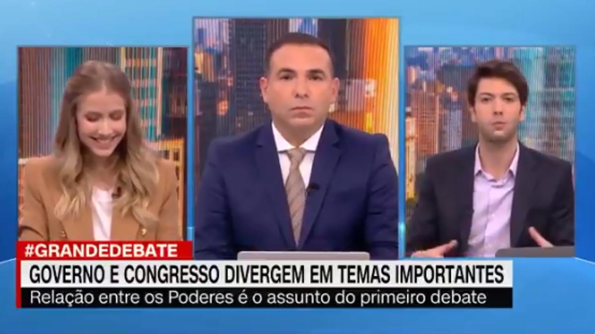 Gabriela Prioli e Caio Coppolla debateram na CNN Brasil - Foto: Reproduçao