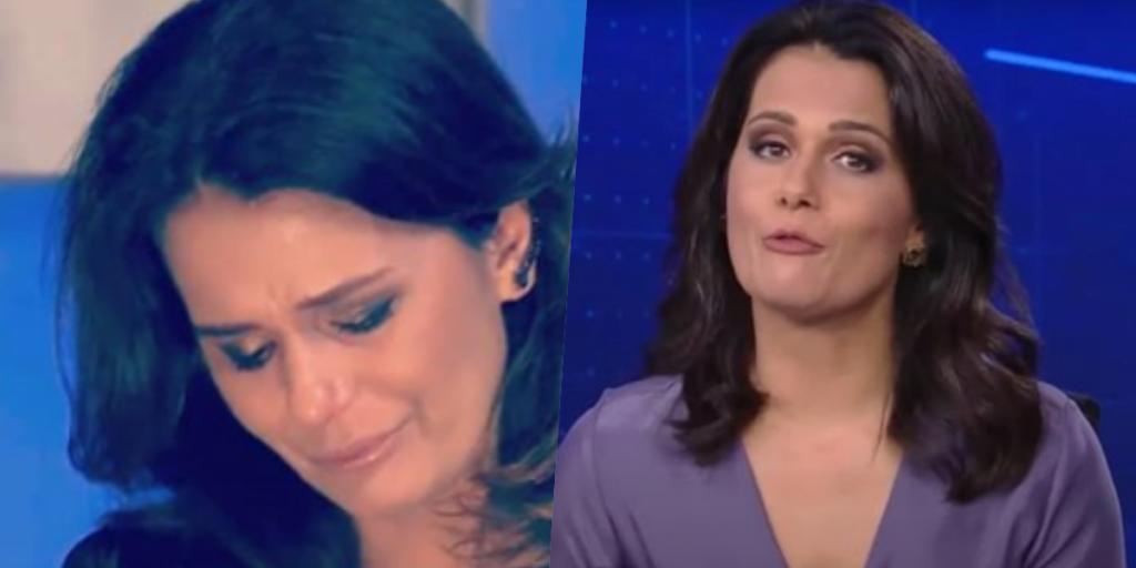 Adriana Araújo teve crise de choro, brigas e está afastada do Jornal da Record (Foto montagem)