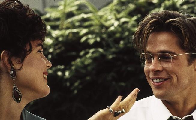Brad Pitt e Elizabeth McGovern em cena de Um Favor Indecente (Foto: Reprodução)