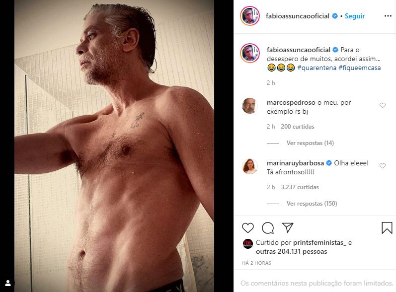 Fábio Assunção surgiu de forma ousada em suas redes sociais (Foto: Reprodução/ Instagram)