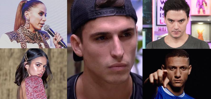 Famosos se pronunciam sobre acusações contra Felipe Prior, do BBB20 (Foto: Montagem / TV Foco)