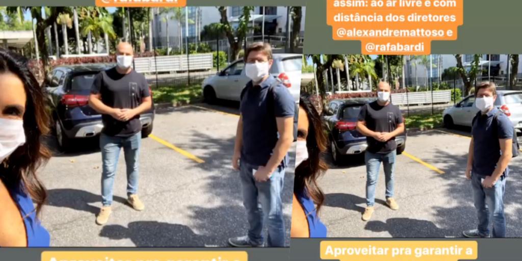 Fátima Bernardes surgiu em estacionamento na Globo após o Encontro (Foto montagem: TV Foco)