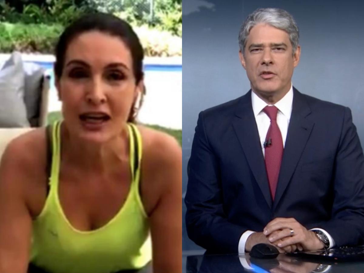 Fátima Bernardes surpreende ao falar sobre Jornal Nacional comandado por William Bonner durante transmissão ao vivo (Foto: Reprodução/Instagram/Montagem TV Foco)
