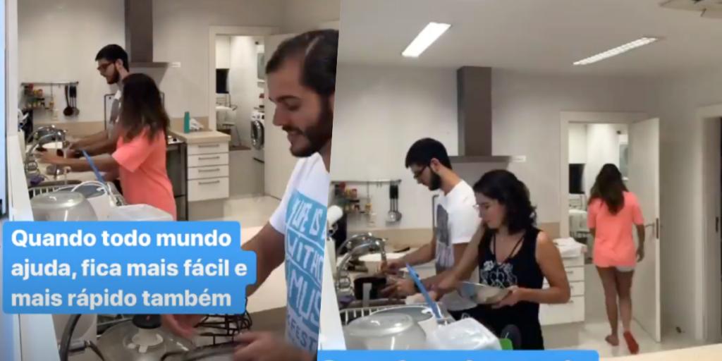Fátima Bernardes mostrou rotina em casa diante do isolamento após falar de afastamento dos filhos (Foto montagem: TV Foco