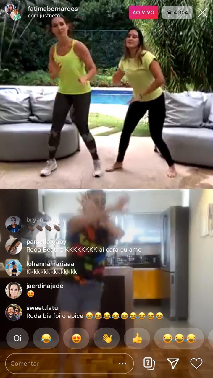 A famosa apresentadora da Globo dançou ao lado de sua filha, Beatriz Bonner (Foto: reprodução)